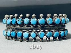 Museum Early Vintage Navajo Turquoise Sterling Silver Bracelet
