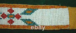 Native American Indian 19th early 20th Century Beaded Muslin Backed 30 Strip