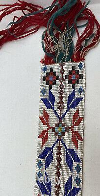 Native American Indian Beaded Sash Belt EARLY