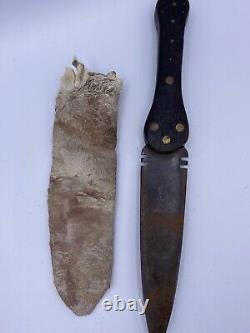 Native American Indian Dag knife, I&H Sorby Circa Early 19th Century