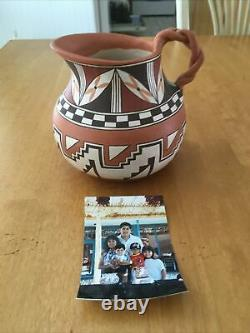 Native American Laguna Pueblo Pottery Pitcher Signed Max Early
