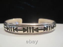 Native American Vintage Pawn Navajo Sterling Silver Early Tommy Singer Bracelet