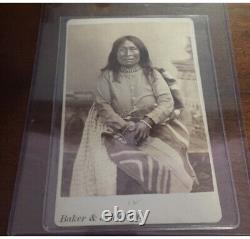 Native american cabinet card Geronimos Wife Early Morning Apache Indian Rare