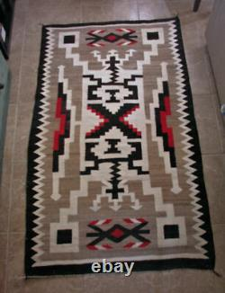 Navajo Crystal Storm Rug, J. B. Moore, Early 1900's. Great Condition