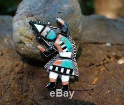No Reserve! Early Zuni Rainbow Man Pin. Homer, Vacit. Poblano