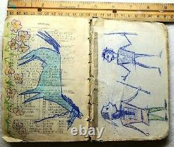 ORIGINAL Indian School Drawin in Math Book late 1800s early 1900s
