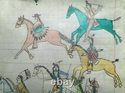 ORIGINAL Indian School LEDGER DRAWING. Early to Mid 1900s