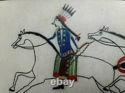 ORIGINAL Indian School LEDGER DRAWING. SIOUX. Early 1900s