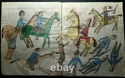ORIGINAL Indian School Ledger Drawing. Early 1900s