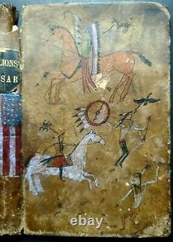 ORIGINAL LEDGER DRAWING on old leather book cover! Early 1900s