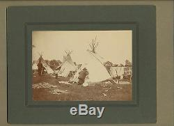 ORIGINAL ROLAND REED NATIVE AMERICAN INDIAN PHOTOEARLY 1900's TEEPEE & BLANKET