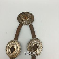 Old! Late First Phase to Early Second Phase, Coin Silver (Ingot) Concho Belt