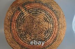 Old Vtg Native American Indian Navajo Handwoven Wedding Basket Ute Early 13