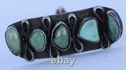 Old early Navajo Native American, Turquoise & Sterling silver large unusual ring