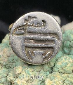 RARE! Early, 1940s Hopi Everett Harris Sterling Silver Reindeer Ring, 6.6g