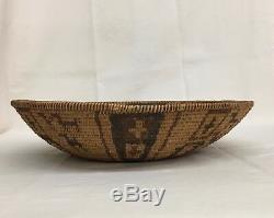 RARE, Early Native American Yavapai/Western Apache Polychrome Basket -Circa 1890