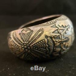 Ralph Tawangyaouma Early Hopi Cuff Bracelet Sterling Silver Native American