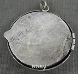 Rare, Early Navajo Sterling & Turquoise, Repousse Locket, WWII Era