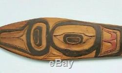 Rare Early Northwest Haida Or Tlingit Ceremonial Dance Padle Native American