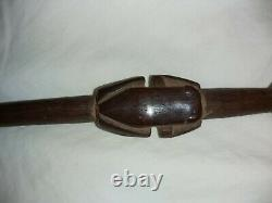 South American Embera (Choco) Tribe Shaman's Magic Frog Stick. Early 20th cent