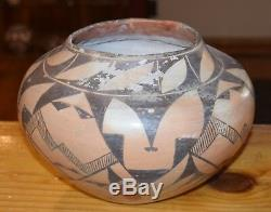 Superb Early 1900's Handcoiled Old Acoma Pueblo Olla! Free Shipping