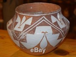 Superb Early/mid 1900's Handcoiled Old Acoma Pueblo Olla! Free Shipping