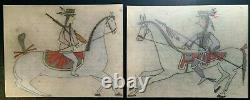 TWO ORIGINAL LEDGER DRAWINGS. EARLY to MID 1900s