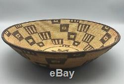 VERY FINE Early Native American Yavapai or Apache Basket Circa 1900