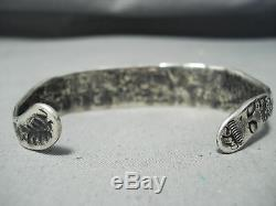 Very Early Ingot Silver Navajo Snake Bracelet