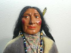 Vintage 15.5 Early 1940's Skookum Bully Good Native American Doll