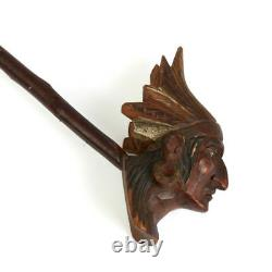 Vintage Carved Wood American Native Pipe Early 20th C