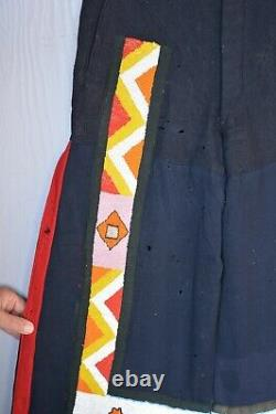 Vintage Early Native American Mens Pants Beadwork on Trade Cloth
