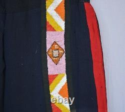 Vintage Early Native American Mens Pants Beadwork on Trade Cloth Plains