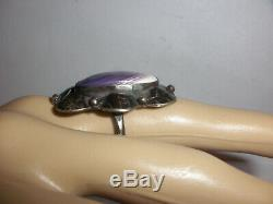 Vintage early Navajo Sterling Silver Fred Harvey era Ring size 7.5 Old Pawn
