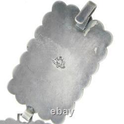Vtg Early Sterling Silver Bell Trading Turquoise Belt 212.6G