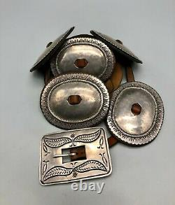 WOWSA! Early 1900s First Phase Style Navajo Concho Belt With History