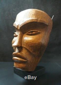 160 # Première Moitié Du 20e Siècle Tsimshia Masque Côte Nord-ouest, Amérindien