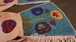 1900 Plateau Début Amérindien Umatilla Cayuse Entièrement Gants Perlée Gauntlet