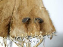 19e Siècle N. Plains Blackfeet (pikuni) Sac Elk Indian / Pochette Early Piece