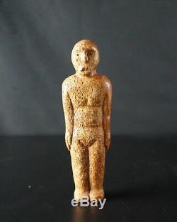 65 # Vieux! De La Fin Du 19ème Au Début Du 20ème Fossile De L'alaska Native Statuettes Inuit