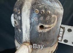 74 # Vieux! Au Début Du 20ème Antique Kachina Masque / Casques Hopi, Grand Amérindien