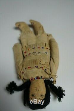 93 # Plaine Antique Indien Doll Début Du 20e Siècle Amérindien