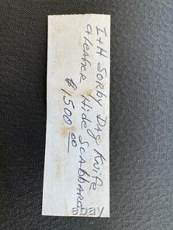 Amérindienne Amérindienne Couteau Dag, I & H Sorby Circa Début Du Xixe Siècle