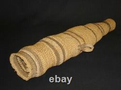 An Early And Rare Modoc Arrow Quiver Basket, Native American Indian, Vers 1890