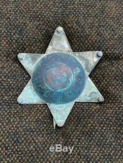 Anciennes Indien Hopi Police Badge Début 6 Étoile Amérindien