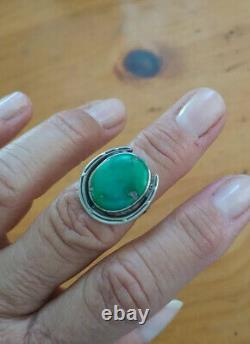 Anneau En Fer À Cheval En Argent Turquoise Vintage
