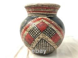 Antique Acoma Pueblo Nouveau-mexique Polychrome Early