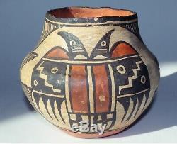 Antique Amérindien Acoma Pueblo Poterie Pot Avec Provenance Début Des Années 1900
