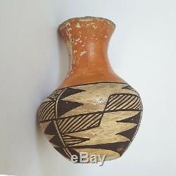 Antique Amérindien Acoma Pueblo Poterie Vase Signé Début Des Années 1900