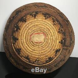 Antique Amérindien Early Mariage Panier Navajo Coil Panier